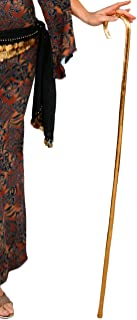 Metallic Performance Cane in Gold - Lightweight Belly Dance Prop for Egyptian Dance