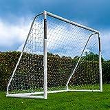 Football Flick - Portería de fútbol uPVC con Postes de 70 mm de Grosor tratados con UV (tamaños: 6 x 4, 8 x 4, 8 x 6, 12 x 6), Color Blanco, tamaño 8x6