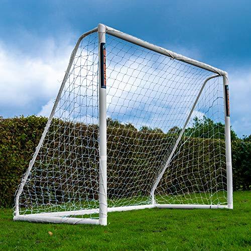 Football Flick Unisex-ungdom urbant mål-8 x 6 fotbollsmål, vit, 8 x 6