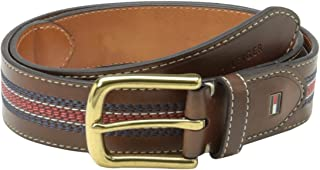 Tommy Hilfiger mens 08-4171 1 1/2-inch Leather Casual Belt Belt