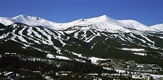 Posterazzi Ski Resorts in Front of a Mountain Range Breckenridge Summit County Colorado USA Poster Print, (36 x 12)
