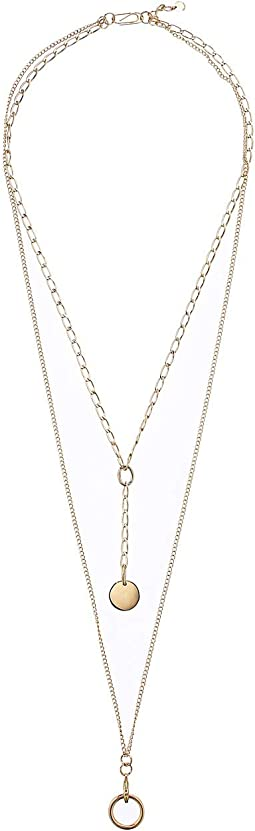 """3 Row Layered Necklace 17"""""""