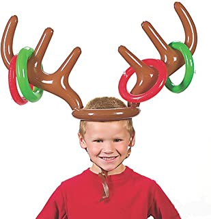 Inflatable Reindeer Antler Hat Ring Toss Christmas Holiday Party Game Photo Props Tools Christmas Headband