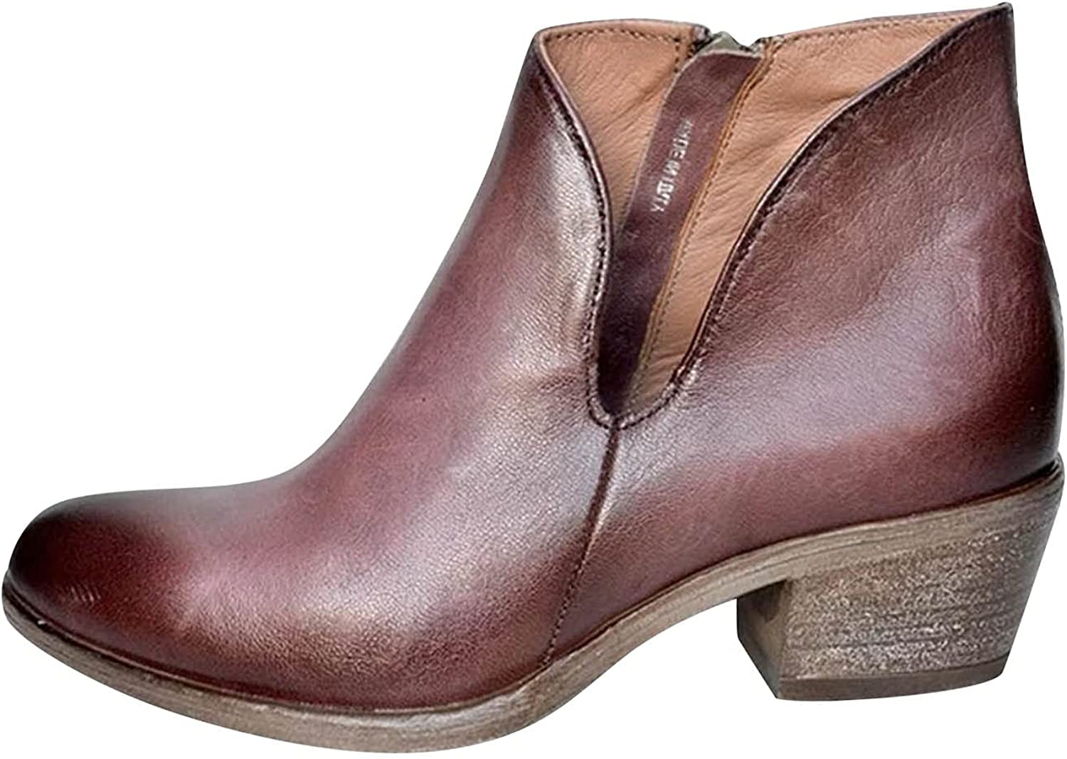 Women's Western Cowboy Boots with Pull-Up Tabs Mid-Calf Boots Lo