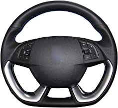 LRJFXP Hand stitched Black Car Steering Wheel Cover,for Citroen DS5 DS 5 DS4S DS 4S