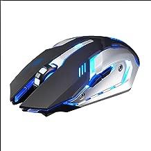 HiGOGO Wireless Gaming Mouse, Free Wolf X7 Rechargeable/Silent/Breathing LED Backlit/USB/Optical/Ergonomic(Plug & Play) Mouse (Black)