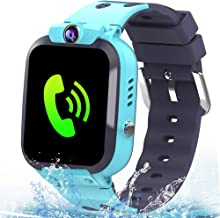 MiKin Kids Smart Watch Phone IP67 Waterproof GPS Tracker for Girls Boys with Two Way Call SOS Camera Alarm Clock Games 1.44