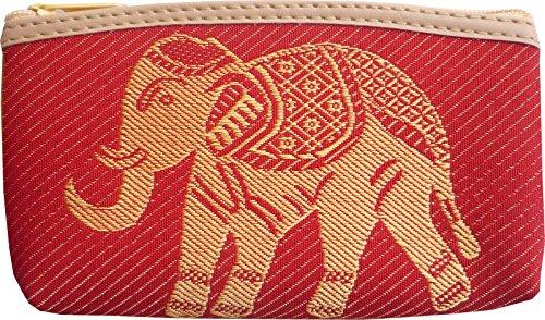 Ariyas Thaishop Kleingeldtasche aus Baumwolle gewebt mit Elefant