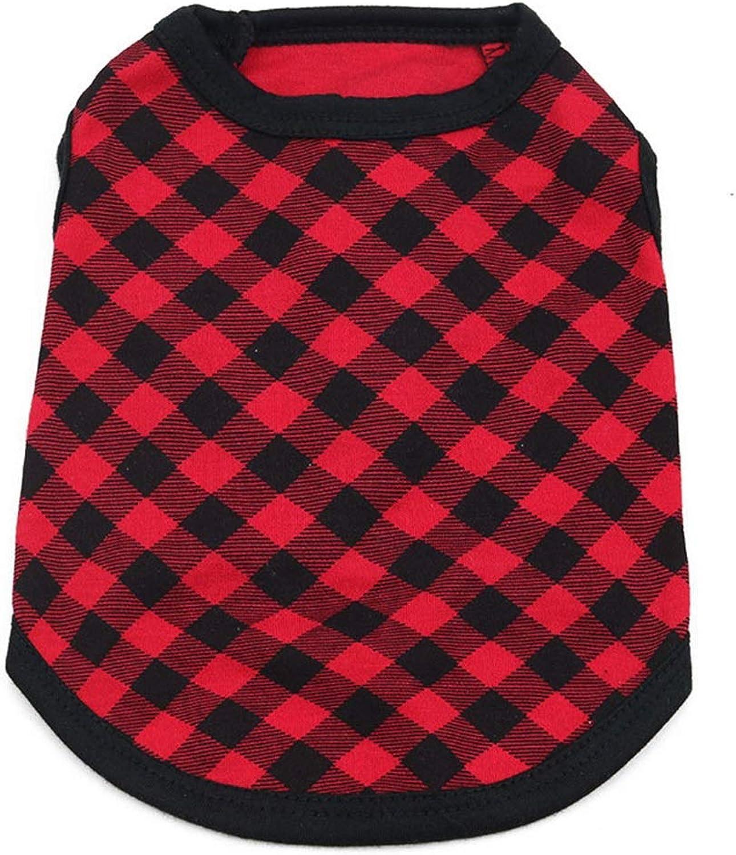 AUSWIEI Dog Clothing Cotton Jersey Pet Vest (color   6, Size   M)