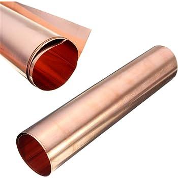 50 x 60 cm SF-Cu bis Gr/ö/ße 500 x 600 mm B/&T Metall Kupferblech 0,8 mm stark Qualit/ät nach DIN EN 1172 CUI-DHP-CW024A R240 halbhart