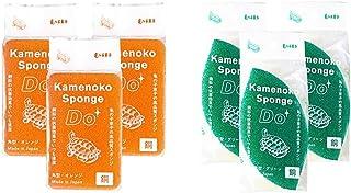 亀の子 キッチンスポンジ Do 角型 オレンジ 3個セット 22192163 & 食器洗い スポンジ Do 木の葉型 グリーン 3個セット 22192262【セット買い】