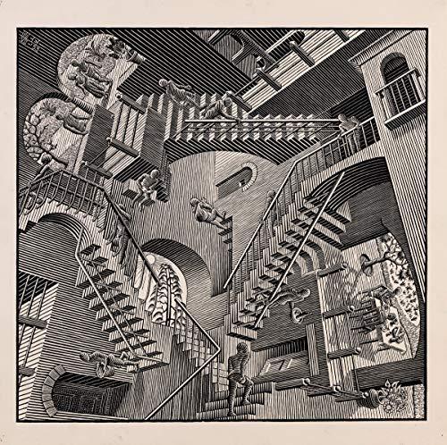 Maurits Cornelis Escher Giclee Arte Carta Stampa Opere d'Artee Dipinti Poster Riproduzione(Le Scale)