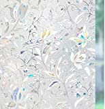 Película de Ventana de privacidad Opaca esmerilada película de Vidrio autoadhesiva Anti-Ultravioleta Utilizada para Pegatinas de Vidrio de Oficina en casa E 45x100cm