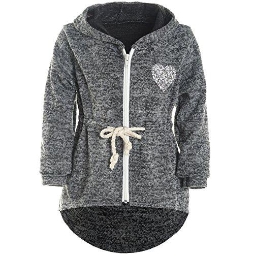 BEZLIT Mädchen Kapuzen Jacke Pulli Pullover Glitzer Sweatshirt 21489 Schwarz Größe 140