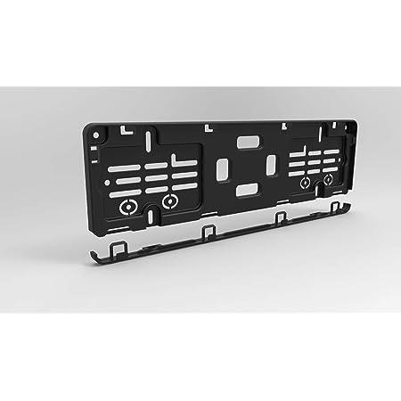 Kurz Kennzeichenhalter 40cm 400mm In Schwarz 2 Stück Perfekt Für 4 Und 5 Stellige Nummernschilder Auto