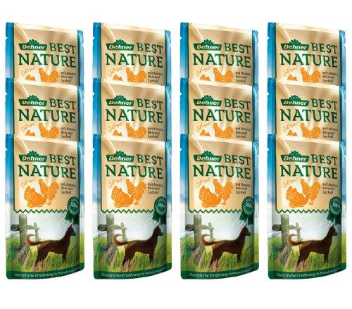 Dehner Best Nature Hundefutter Adult, Geflügel und Ananas mit Reis, im Beutel, 12 x 150 g (1.8 kg)