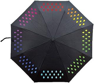 Paraguas cambiante de color, 3 pliegues para la escuela, universidad, viajes, niñas y niños
