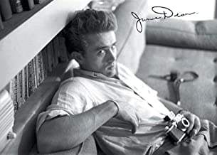 Pyramid America James Dean Camera Hollywood Icon Black and White Photograph Laminated Dry Erase Sign Poster 20x16