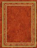 Blank Book Lederlook rotbraun (klein) - Einschreibebuch / Notizbuch: liniert