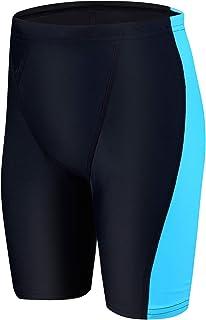 Ubestyle UPF 50+ Young Boy's Athletic Swim Jammer Quick Dry Training Swim Shorts