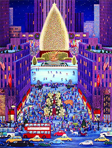 SUNSOUT INC Rockefeller Center 500 pc Christmas Holiday Jigsaw Puzzle