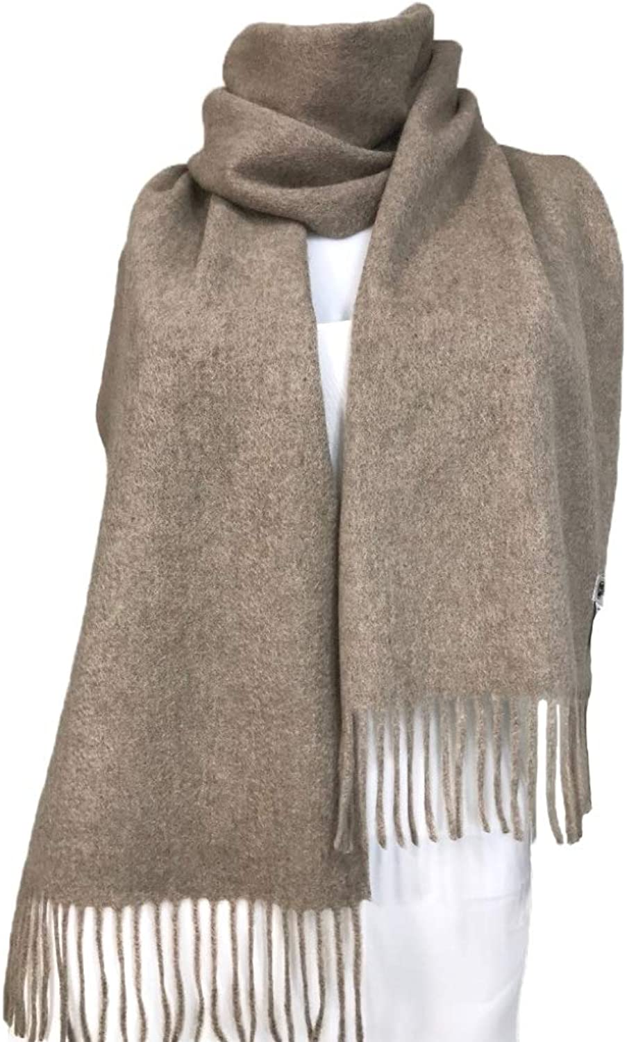Cashmere Long Scarf, 100% Cashmere, Gorgeous and Natural, K0102 (Milkcoffee)