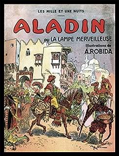 1art1 Albert Robida Poster Art Print and Frame (MDF) Black - Aladdin and The Magic Lamp, 1001 Nights (32 x 24 inches)