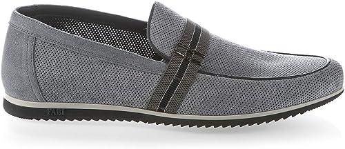 FABI 6704 - zapatos para Hombre (Ante Italiano, Color azul)