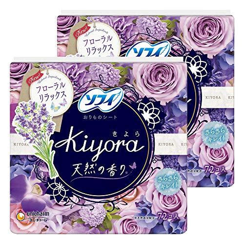 スマートマットライト 【まとめ買い】ソフィ Kiyora フローラルリラックス 72コ入×2個パック(unicharm Sofy)