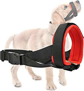 Gentle Dog Muzzle for Small, Medium, Large Dogs, Safely Secure Comfort Fit Muzzle to Prevent Barking, Biting and Unwanted Chewing, Soft Neoprene Padding, Included Training Guide