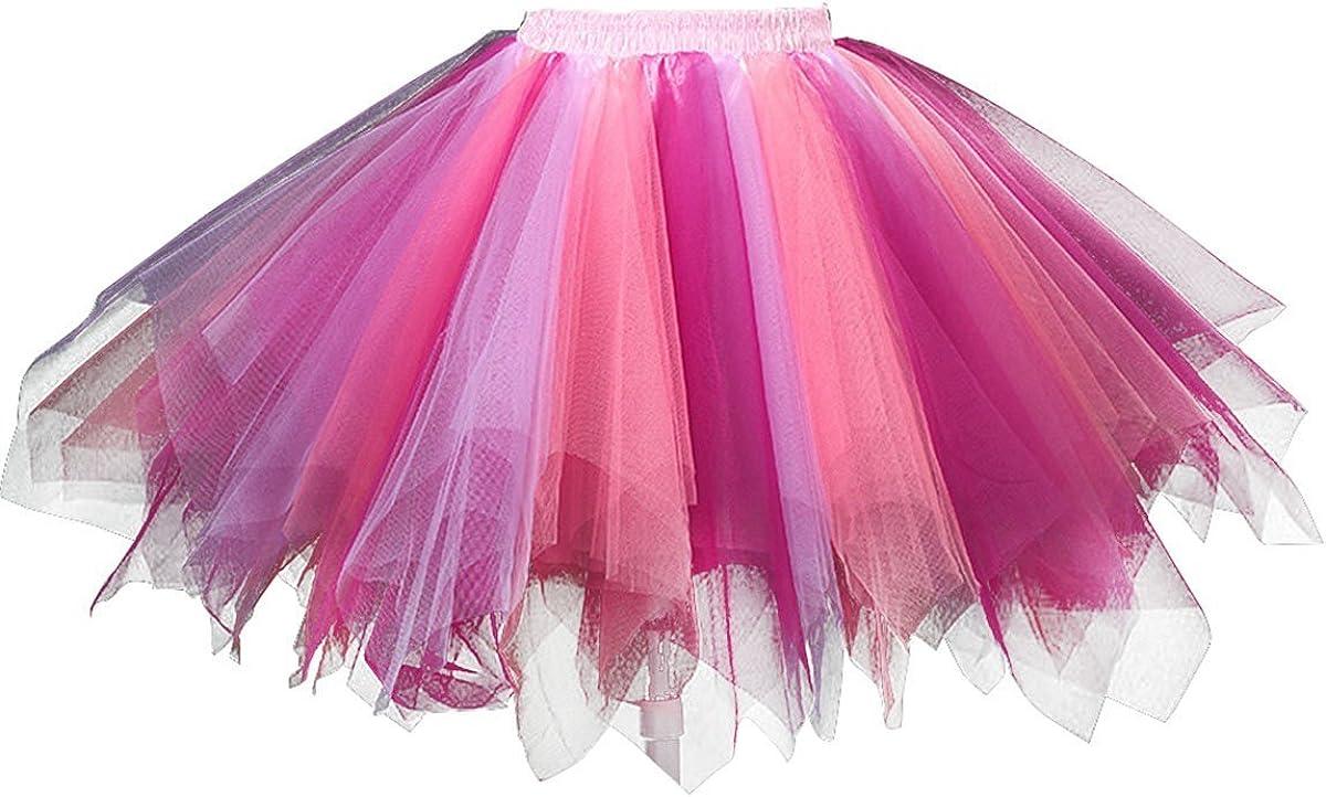 Girls Tutu Skirts Layered Tulle Princess Dresses Sparkle Tutu