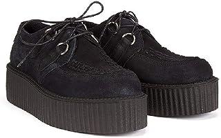 Altercore Ered Creepers Negro Gamuza Unisex Mujer Hombre Plataforma Zapatos Punk