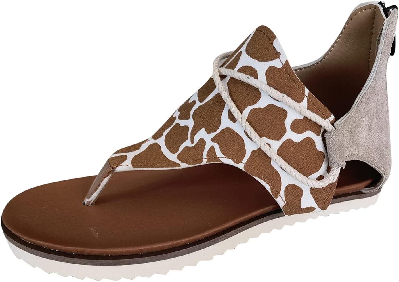 PLENTOP Gladiator low-pricing Sandals for Women Rubber Wedge Low-Heel Beach Ranking TOP6