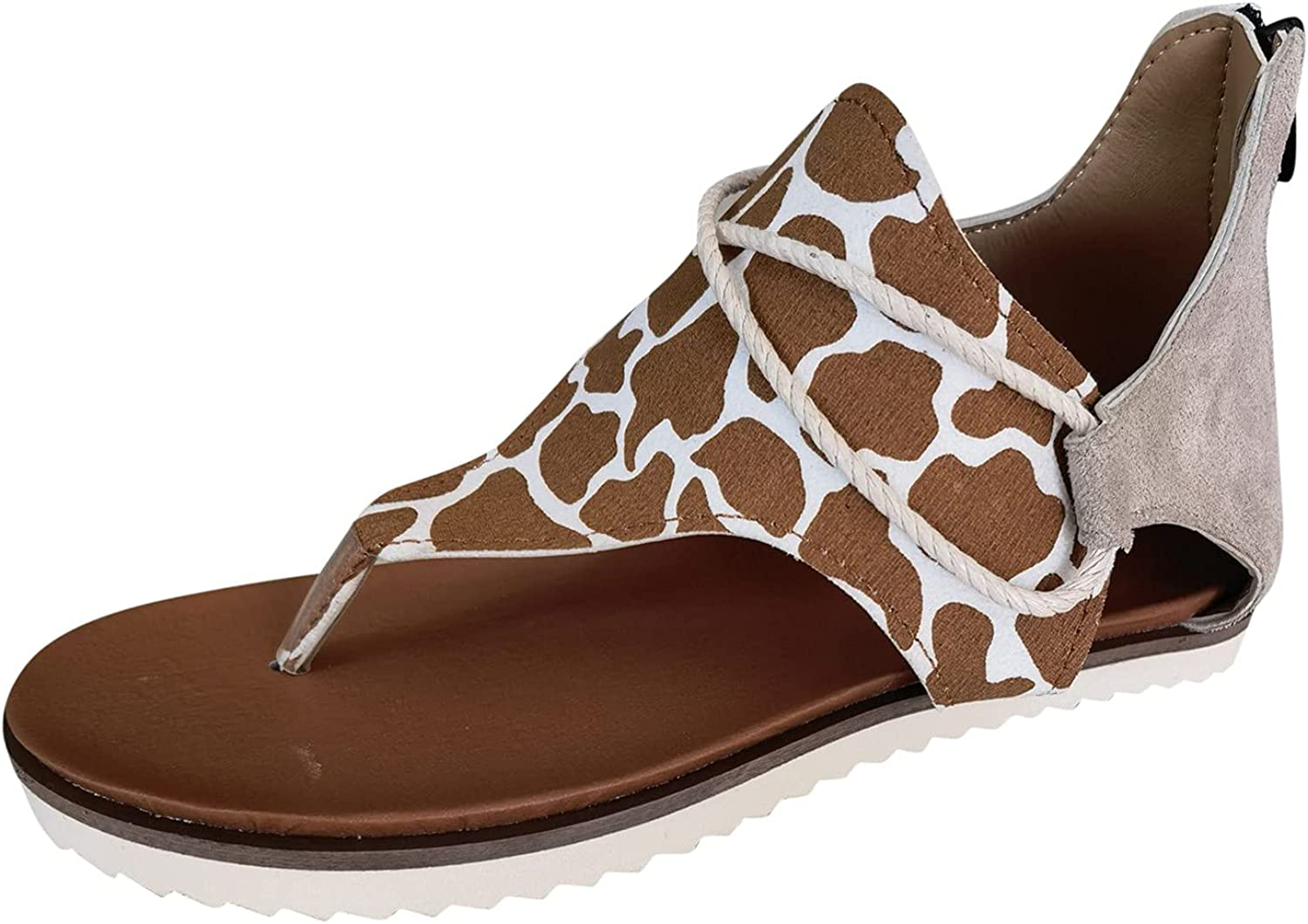 Bunion Sandals For Women Summer Leopard Chicago Mall wholesale Casual Printed Tie-Dye