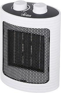 Ardes AR4P07W Annie Compact PTC Calentador de ventilador de cerámica, 2 potencias con panel de control y mango blanco