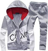 Men's Tracksuits Print Letter 2 Pieces Sweatsuits Hoodies Sets Sports Suits Jogging