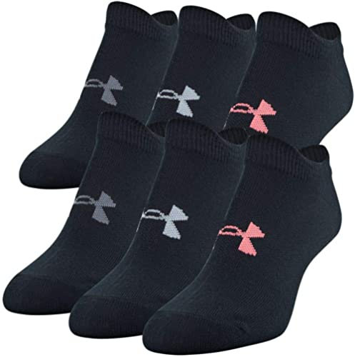 Under Armour Women's Essential 2.0 No Show Socks, 6-Pairs