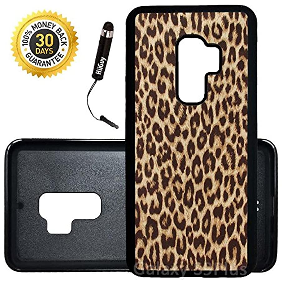 Custom Galaxy S9 Plus Case (Cheetah Print) Edge-to-Edge Rubber Black Cover Ultra Slim | Lightweight | Includes Stylus Pen by Innosub