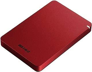 BUFFALO USB3.1(Gen.1)対応 耐衝撃ポータブルHDD 1TB レッド HD-PGF1.0U3-RDA