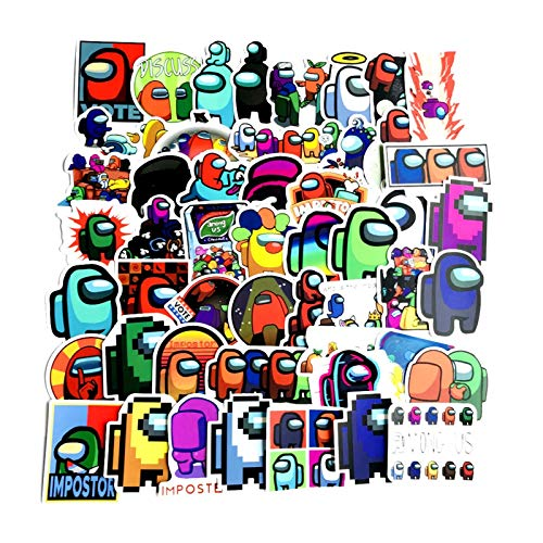 Fgolphd 50 Entre Nosotros Pegatinas De Graffiti Pegatinas Impermeable Bolsa For Ordenador Portátil Scooters Tazas Refrigerador Pegatinas (Color : Multi-Colored)