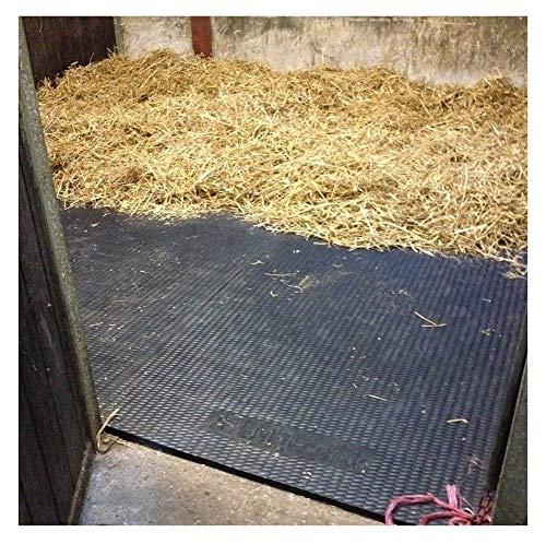 EVA stabile Bodenmatten 24 mm dick 1,82x 1,22m geeignet für Pferde, Ponys oder Nutztiere Bodenbelag auch geeignet für Turnhallen, 1Stück, Schwarz