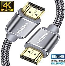 Câble HDMI 4K 3m – Snowkids Câble HDMI 2.0 Haute Vitesse par Ethernet en Nylon..