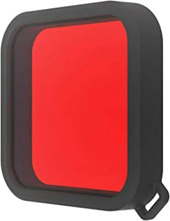 LuDa Dive Filter for DJI OSMO Action Underwater Waterproof Case Accessory - Red