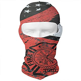 WD&rain Firefighter Thin Red Line Flag Axe Balaclava Face Mask Headwear Helmet Liner Gear Full Face Mask Hood Ski Mask