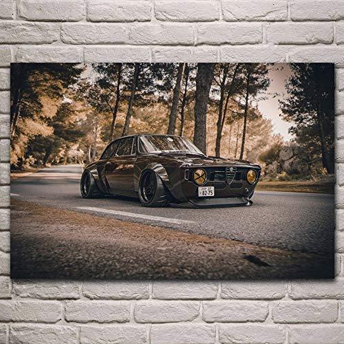 Póster de coche deportivo clásico y súper afinación, para decoración de la pared de la sala de estar (color: A, tamaño (pulgadas): 40 x 60 cm)
