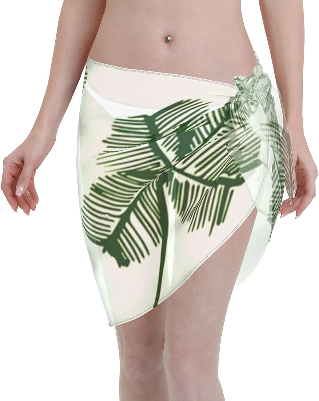 2053 pants Lucky Shamrock Pattern Women Chiffon Beach Cover ups Beach Swimsuit Wrap Skirt wrap Bathing Suits for Women