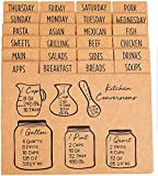 Outshine Premium Kraft Recipe Card Dividers 4x6 with Tabs (Set of 24)   Recipe Box Dividers Made of Thick Cardstock   Includes 28 Adhesive Labels and Printed Cooking Tips   Best Kitchen Gift