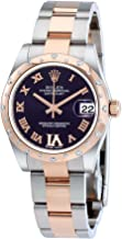Rolex Oyster Perpetual Datejust 31 Purple Dial Stainless Steel and 18K Everose Gold Rolex Oyster Automatic Ladies Watch 178341PURDO
