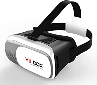 ISHIKA 360 Dgeree 3D Glasses Vr Box Virtual Reality Headset with Clear View, Cosy Wearing & Perfect for Long Time Wearing for All Smartphones Having 5.5 Inch Display