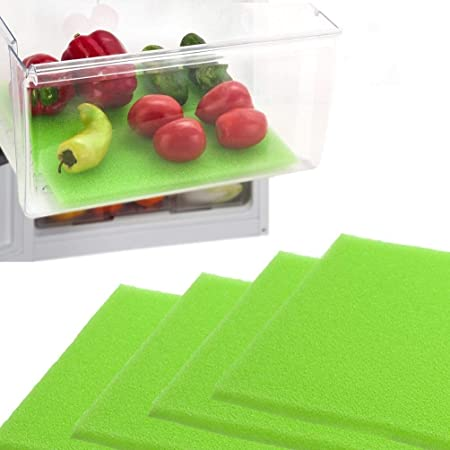 Dualplex Fruit & Veggie Life Extender Liner for Fridge Refrigerator Drawers, 12x15 Inches (4 Pack) – Extends The Life of Your Produce & Prevents Spoilage